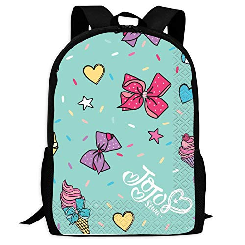JoJo Girls Siwa 1 Backpacks Laptop Bag 3D Printing Kids' School Casual Shoulder Bookbags Daybag for Boys Girls