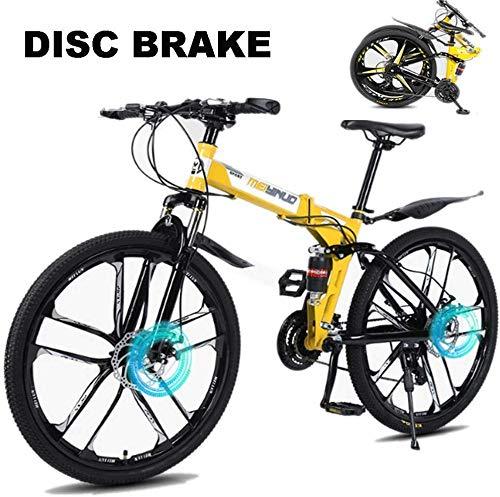 BUK Herren Fahrrad 26 Zoll vollgefedertes Trekkingrad Cross-Trekkingrad für Erwachsene 21/24/27 Speed Grip Faltrad-24Geschwindigkeit_26 Zoll