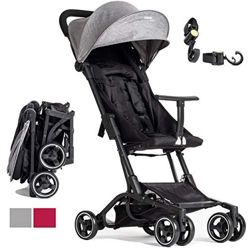 Kinderwagen Piuma0+ Ultra lichtgewicht buggy 2.0 Reisfauteuil Superuitgerust Van 6 Maanden Tot 25 Kg Compacte En Lichte 5-Puntsgordel En Voetrem, Luchtbagage, Baby Stroller Lightweight Reclinable