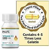 INLIFE Vitamin D3 Cholecalciferol Supplement for Men Women 1000 IU - 60 Liquid
