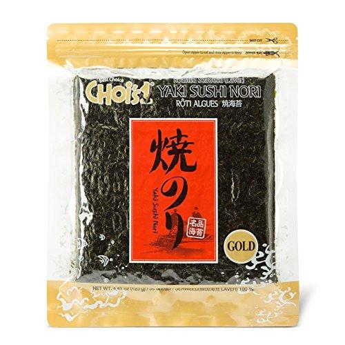 DAECHUN LAVER CO., LTD. Nori Sushi, rôties grillées (50 feuilles complètes) Teneur en or 125g
