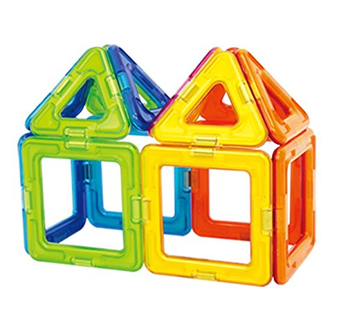 Magformers Basic Set (14-pieces) Magnetic Building Blocks, Educational Magnetic Tiles Kit , Magnetic Construction STEM Toy Set