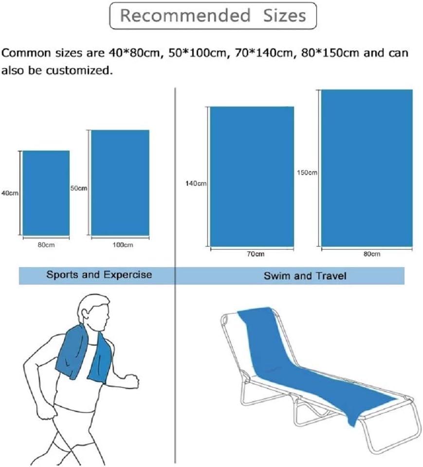 Toalla de Microfibra para Gimnasio Yoga Quick Dry Viajes Fitness casa para Ciclismo