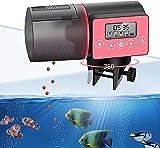 Alimentador Automático de Acuarios, Inteligentemente Cronometrado Doble Fijo Comedero de Peces con Pantalla LCD para Fin de Semana o de Vacaciones