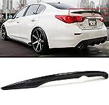 Cuztom Tuning Fits for 2014-2020 Infiniti Q50 Q50S EAU Rogue Style Carbon Fiber Trunk Lid Spoiler Wing