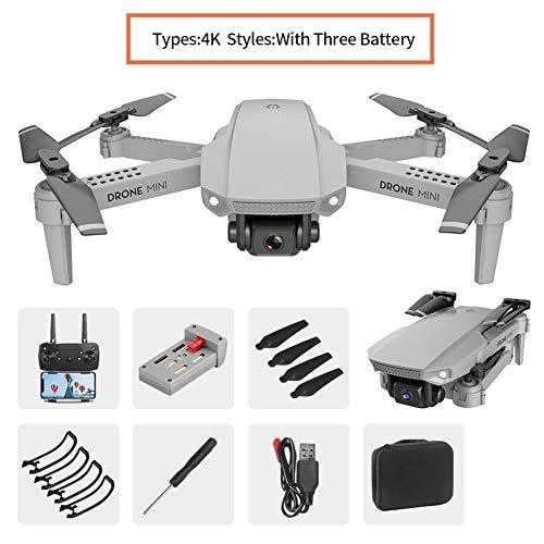 Drone FPV WiFi E88 Plegable con 480P / 720P / 1080P / 4K HD Cámara Dual RC Quadcopter 110 ° Gran Angular Mini Drones portátiles