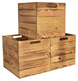 Chiccie Kallax - Caja de almacenaje de madera, 33 x 38 x 33 cm