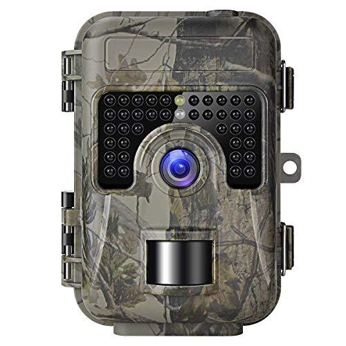 Shumo Game Trail Cámara con Visión Nocturna Activada por Movimiento 1080P 16MP Cam Cámara Trampa de Caza sin Brillo IR y Mejorado Impermeable IP66
