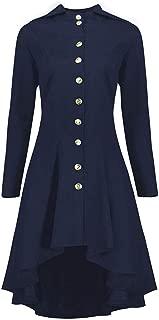 Dress Coat Plus Size Women Lace Up Hooded Jacket Vintage Steampunk Blazer