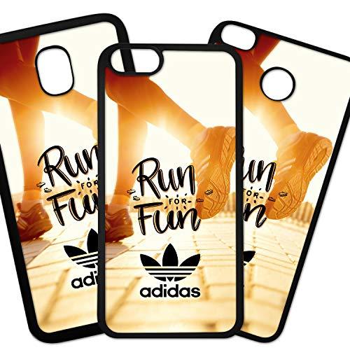 ELHURON Fundas De Moviles Carcasas De Moviles Funda Carcasa Compatible con Marca Deportiva Adidas Logo Hojas Run For Fun