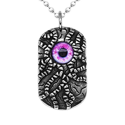 kowaku Fine Punk Stainless Steel Pendant Necklace Chain Eye Jewelry - Red Eye - Red Eye