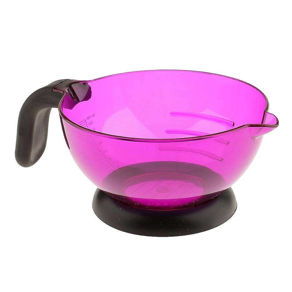 く統計襲撃B Blesiya 高品質 シリコン 多機能 美容室/サロン 染剤ボウル ヘアカラー 染め用具 全3色 - 紫の
