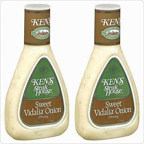 Ken's Steak House Sweet Vidalia Onion Dressing 16oz Bottle (Pack of 2)