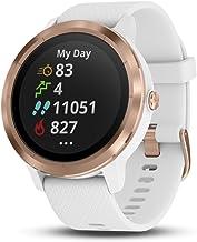 Garmin Smartwatch Vivoactive 3 GPS Mano Ciclismo Unisex Adulto, Blanco (Rose Gold/White Band), Talla única