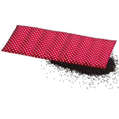 Aminata BALANCE – Wärmekissen Nacken, Schulter, Rücken - Körner-Kissen Rapssamen-Kissen 60x20 cm Herzen rot weiß 8-Kammer - abnehmbarer Bezug - Geschenk-Idee - Stern-Motiv hergestellt in Deutschland