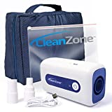 Clean Zone CPAP Cleaner - Portable, Universal Hose Adapters, Zip Seal Cleaning Bag, Travel/Storage Bag, Rechargeable