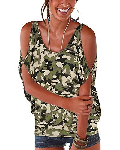 YOINS - Blusa informal de verano con los hombros...