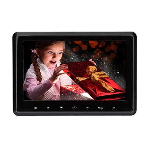 MiCarBa 10.1 pollici Car DVD Player 1080P HD Poggiatesta Monitor DVD Player, sedile posteriore nel Sistema di intrattenimento per Auto Supporto CD VCD SD USB HDMI (CL-Z101HD)