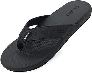 Men's Casual Thong Sandals Comfortable Walking Flip Flops Soft Beach Shower Slippers