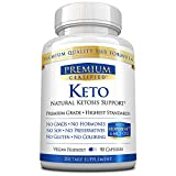 Keto Premium - Weight Support Exogenous Ketones, Maintain Ketosis, Boost Energy, Suppress Appetite-100% All Natural 90 Vegan Friendly Capsules