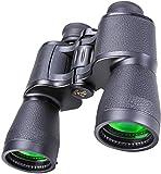 Prismáticos para Adultos de 20X50, binoculares HD Profesionales compactos e Impermeables con visión Nocturna en Condiciones de Poca luz para la observación de Aves, conciertos de Caza sobre la Marcha