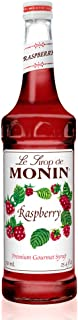 Monin - Raspberry Syrup, Sweet and Tart, Great for Cocktails and Lemonades, Gluten-Free, Vegan, Non-GMO (750 Milliliters)