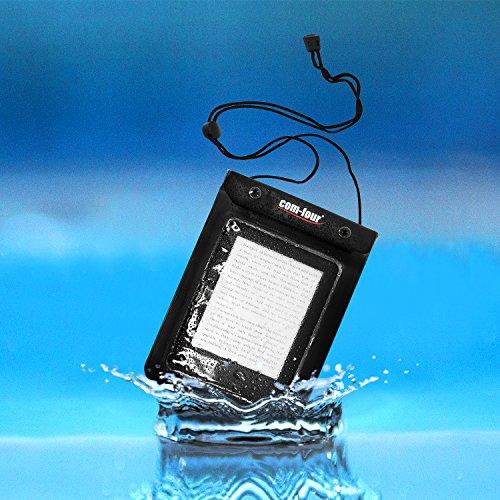 com-four® 2X wasserdichte Schutzhülle - staubdichte Hülle für Tablet und E-Book-Reader - Schutztasche in schwarz - 9,4