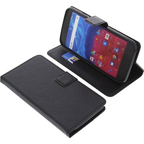 foto-kontor Tasche für Archos Core 55 Book Style schwarz Schutz Hülle Buch