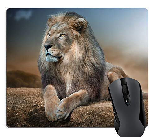 Price comparison product image Knseva Lion Relaxing Customized Rectangle Mousepad
