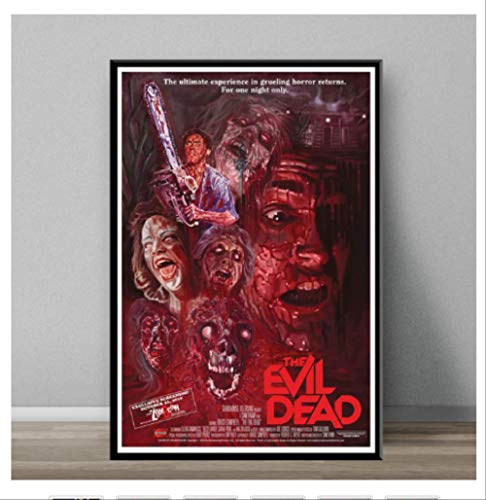 DPFRY Leinwand Malerei Evil Dead Classic Horrorfilm Kunst Malerei Leinwand Poster Wand Dekoration Mw8T 40X60 cm Ohne Rahmen