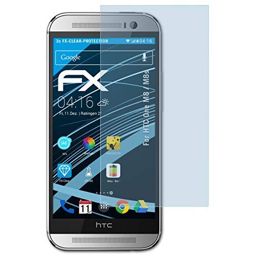 atFolix Schutzfolie kompatibel mit HTC One M8 / M8s Folie, ultraklare FX Bildschirmschutzfolie (3X)
