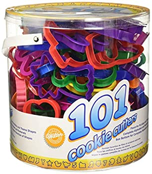 Wilton Cookie Cutters Set 101-Piece — Alphabet Numbers and Holiday Cookie Cutters