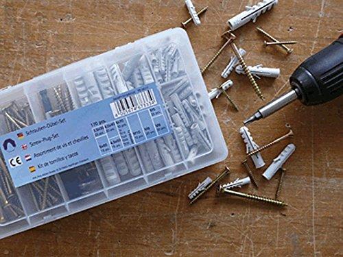 Dübel und Schrauben Set 170 Teile mit TX BITS und Bithalter
