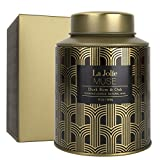 LA JOLIE MUSE Dark Rum & Oak Scented Candle, Natural Wax Candle for Home, 100 Hours Long Burning Holiday Candle for Men, Tin, 13Oz