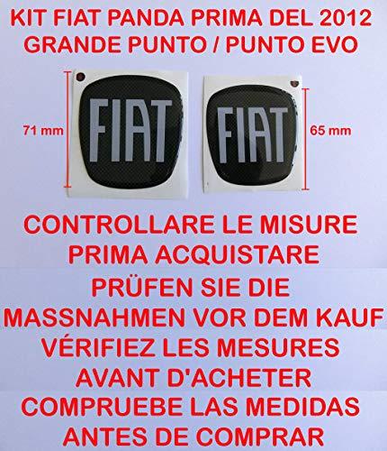 Bester der welt GTBTUNING Panda Carbon Aufkleber, Logo Aufkleber, Emblem, Platte Fiat New Panda (bis 2012) 4 x 4 Punto…