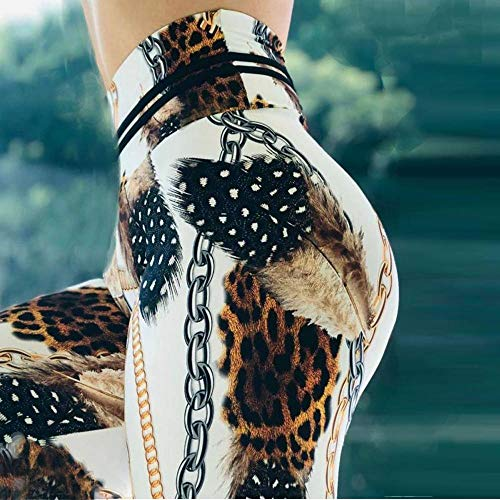 RUI Sportswear-panty & leggings voor dames panty voor fitness heupbroek broek luipaard ketting yoga broek vrouwen loopbroek luipaard ketting verlengd