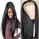 Peluca de pelo liso de 10 A sedoso de Bele preenganchado de encaje frontal 360 pelucas 130% densidad con línea de pelo natural cabello humano virgen color natural para mujeres negras