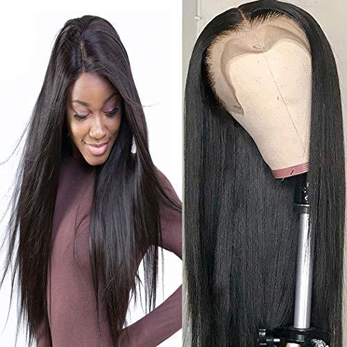 Bele10Apré plumémalaisien360 Raide CheveuxendentellefrontalePerruques150%DensitéviergesOnduléCheveuxhumainsavecdescheveuxdebébé 10 pouces