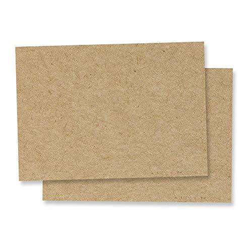 50 Blatt, A3 Braun Kraftpapier Karton, 200 g/m²