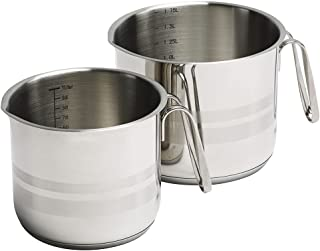 KÖKSKUNGEN - Set med 2 st måttkastruller, 1 Liter och 1,75 Liter, rostfritt stål 18/8. Kärlen är försedda med hällpip för ...