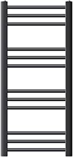 ECD Germany Radiador de baño - 400 x 800 mm - Antracita - curvado - con conexión lateral - Radiador toallero