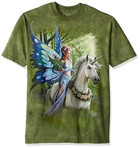 The Mountain unisex adult Realm of Enchantment T Shirt, Green, XX-Large US