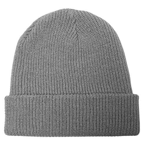 GO HEAVY Lange Mütze Basic Beanie für Damen und Herren Hellgrau