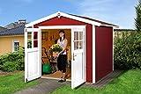 Weka Gartenhaus 224, schwedenrot, 280 x 259 x 227 cm