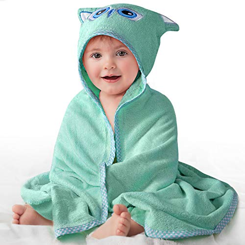 Bamboo Baby Bath Towel, Ultra Soft Baby Hooded Towel with Hood for Newborn Toddler Infant, Super Absorbent and Hypoallergenic Natural Baby Towel Perfect for Boys and Girls
