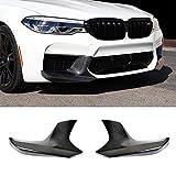 JTAccord 2PCS Carbon Faser Splitter Front Lip Spoiler Chin für BMW 5er Serie m5 f90 ab 2017