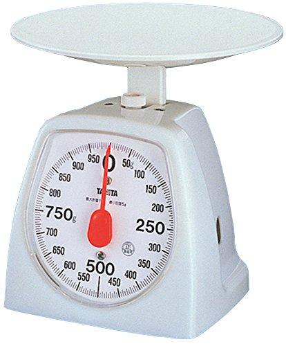 タニタ キッチンスケール はかり 料理? アナログ 1kg 5g単位 ホワイト 1439-WH