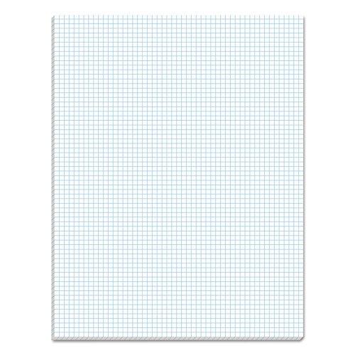 TOPS Quadrille Pad, Gum-Top, 8-1/2 x 11 Inches, Quad Rule (6 x 6), White Paper, 50 Sheets per Pad (33061)