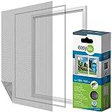 Elástico Protección Insectos Tela Mosquitera para ventana 130 x 150 cm puede ser acortado - blanco