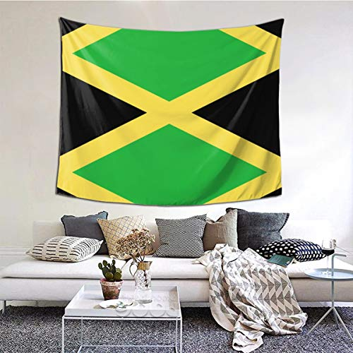 Jamaica Flag Art Design Tapestry Art Decoration Bedroom Living Room and Dormitory Decoration, Seamless Nail Hooks are Easy to Install 60 X 51 Inch